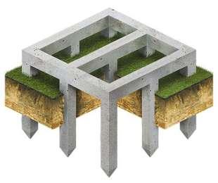 Виды и типы свайных фундаментов
